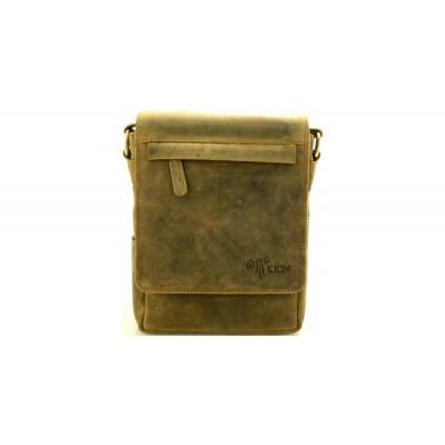 R6307 Λάδι - Zip - Τσάντα unisex 'Kion'  Δερμάτινα Τσαντάκια